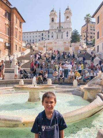 Look at the crowd at the Spanish Steps