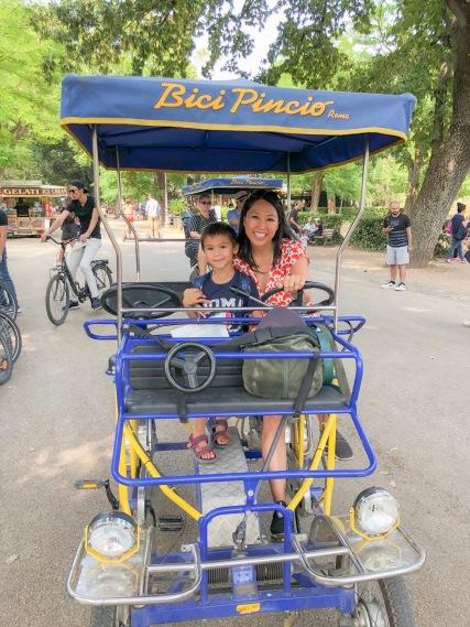 Biking in Villa Borghese
